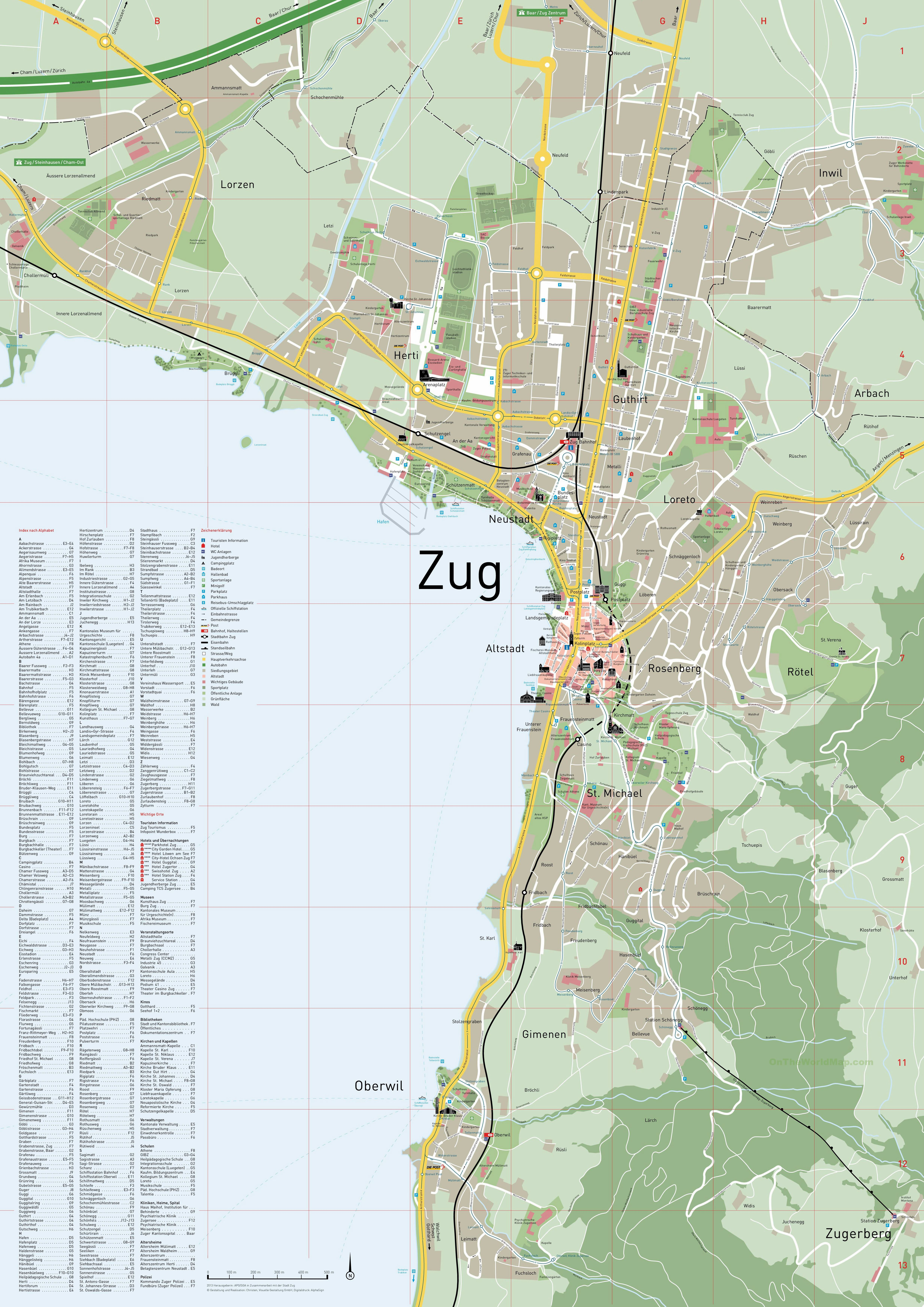 Large Zug Maps for Free Download and Print HighResolution and