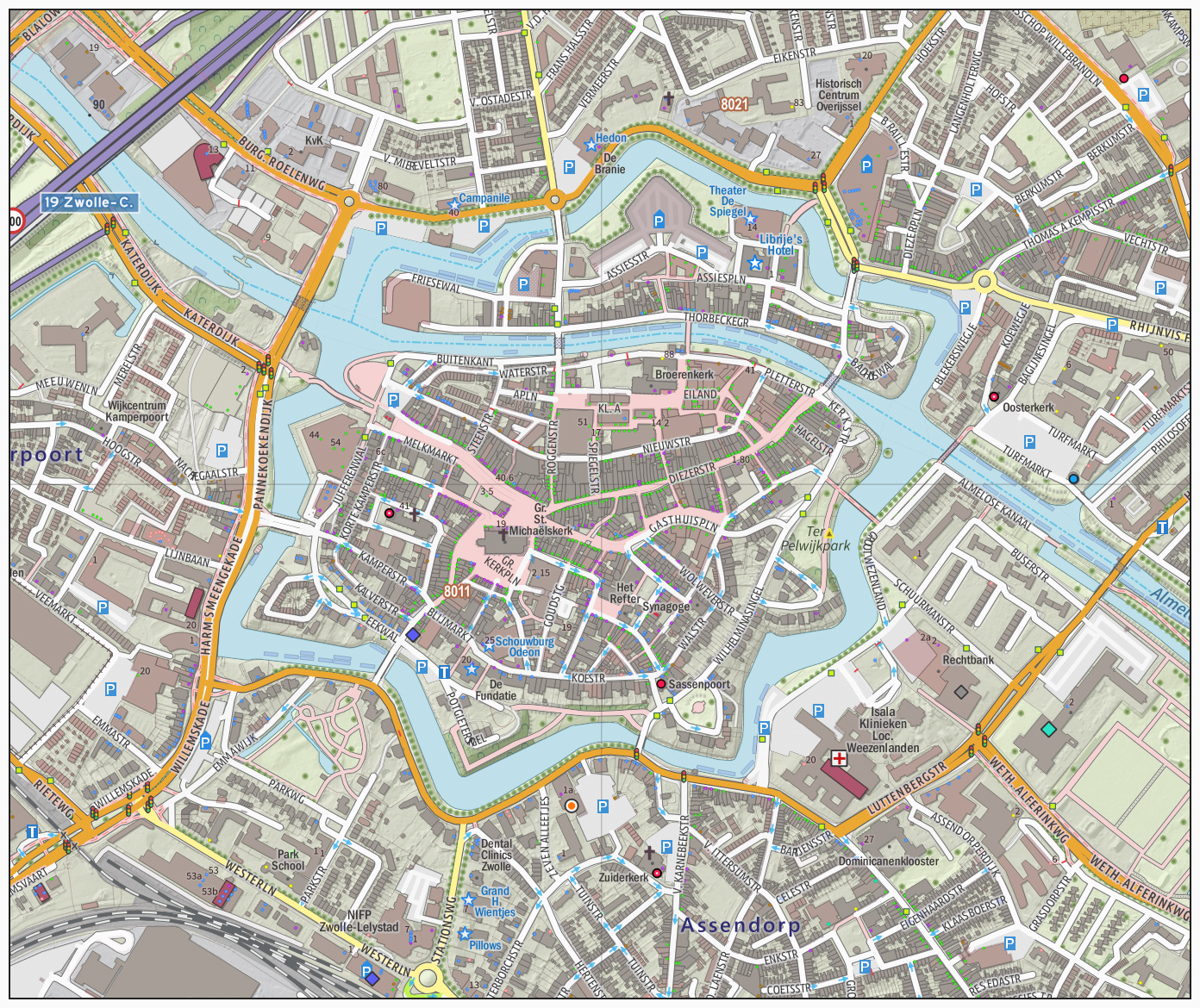 Large zwolle maps for free download and print high resolution and large map of zwolle 1 ccuart Images