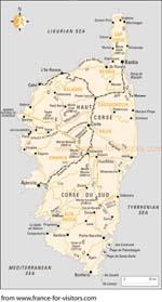Carte Corse Gratuite Imprimer.Cartes De Corse Cartes Typographiques Detaillees De Corse France