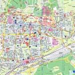 interaktive karte von karlsruhe deutschland mit der m glichkeit der navigation. Black Bedroom Furniture Sets. Home Design Ideas