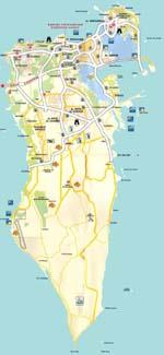 Carte de Manama