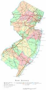 Carte de New Jersey