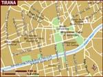 Map of Tirana