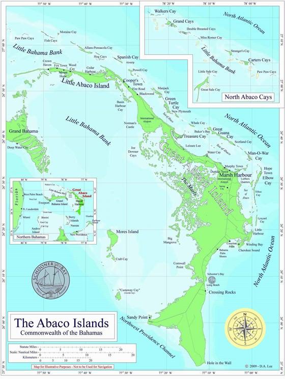 Large map of Abaco 1