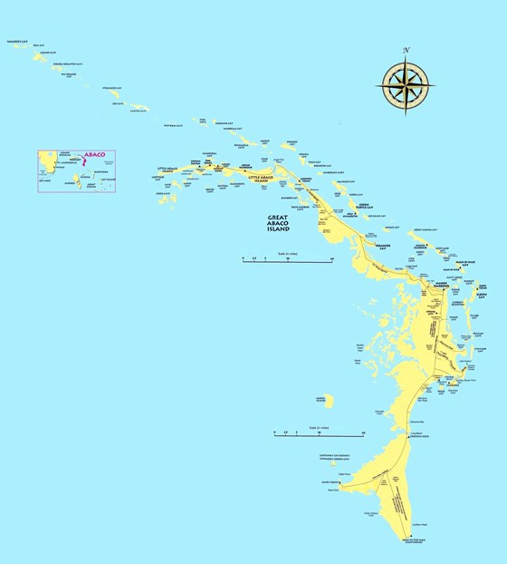Detailed map of Abaco 2