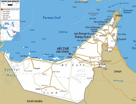 Large map of Abu Dhabi Region 1