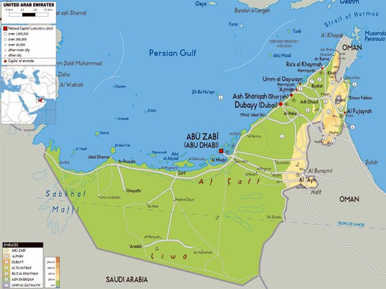 Detailed map of Abu Dhabi Region 2