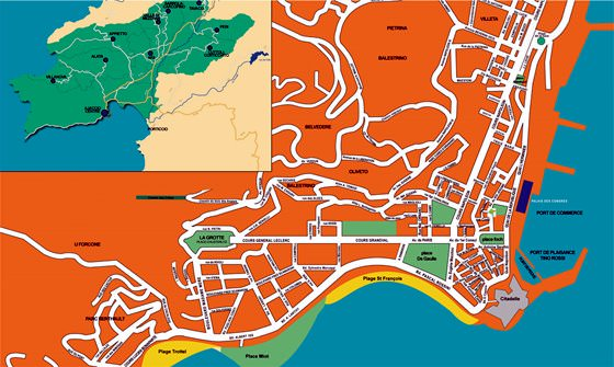 Ajaccio map 1
