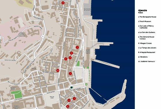 Ajaccio map 2