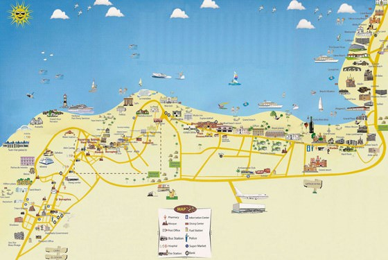 Large map of Hurghada 1