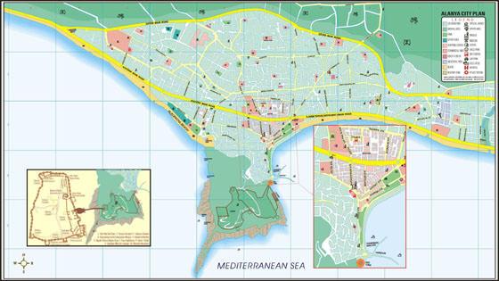 Große Karte von Alanya 1