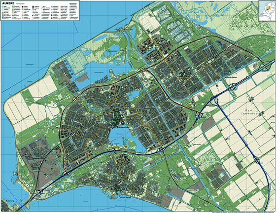Детальная карта Алмере-Стада 1