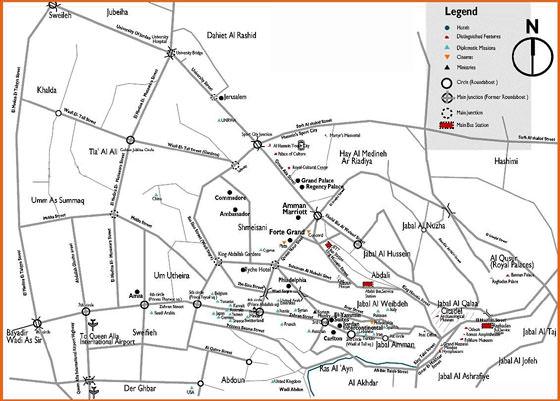 Large map of Amman 1