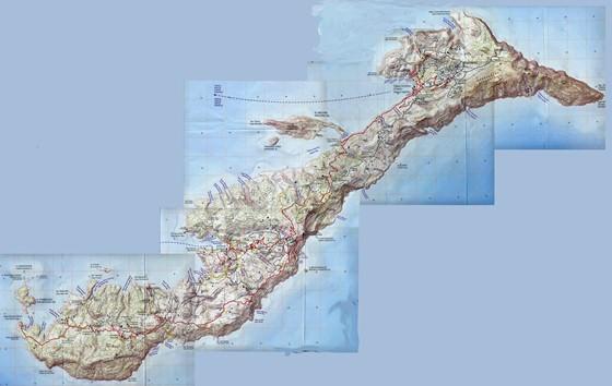 Large map of Amorgos Island 1