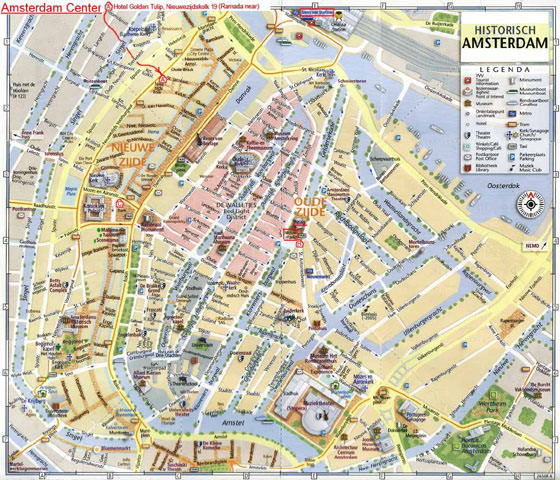 Large map of Amsterdam 5