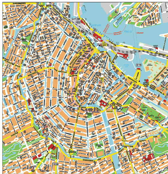 Detailed map of Amsterdam 6
