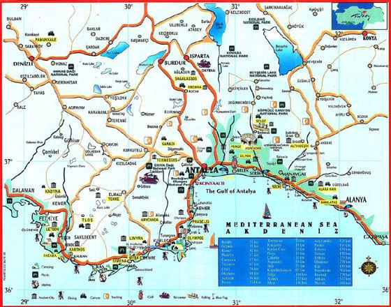 Карта Антальи 1