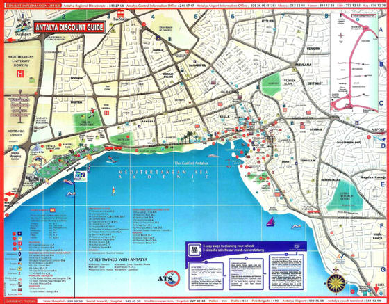 Карта Антальи 2