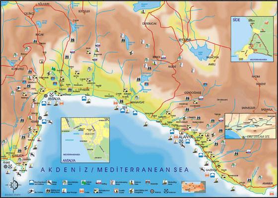 Карта Антальи 3