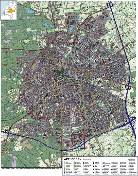 Large map of Apeldoorn 1