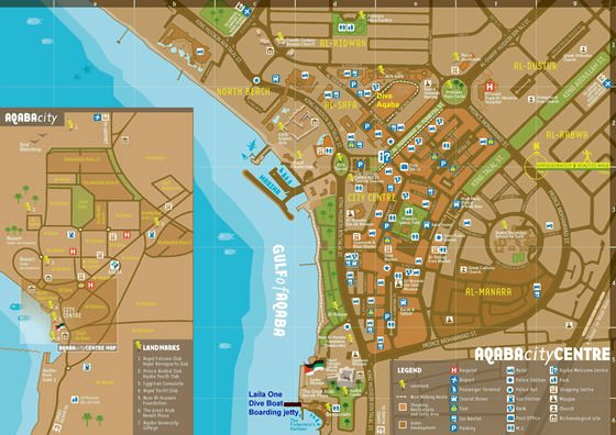 Large map of Aqaba 1