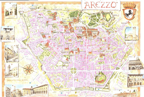 Large map of Arezzo 1