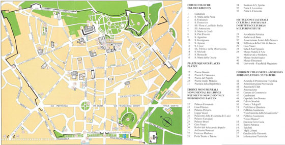 Detailed map of Arezzo 2
