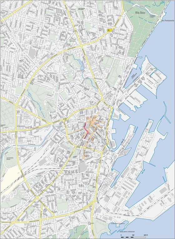 Große Karte von Arhus 1
