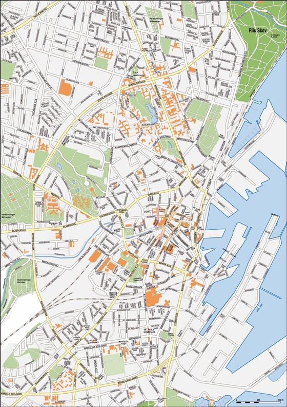 Detaillierte Karte von Arhus 4