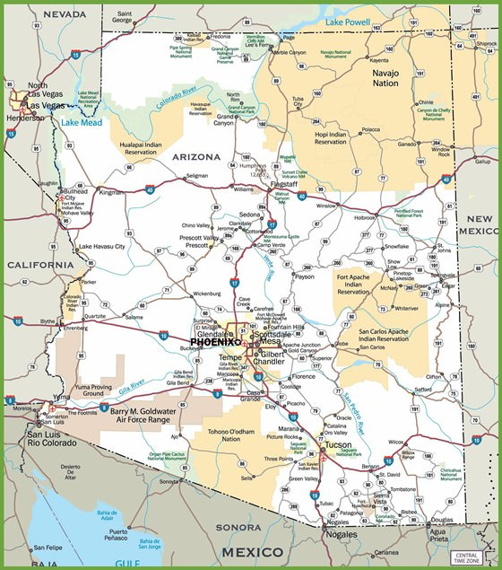 Karte von Arizona 2