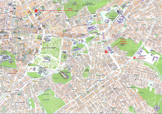 High-resolution map of Athens for print or download