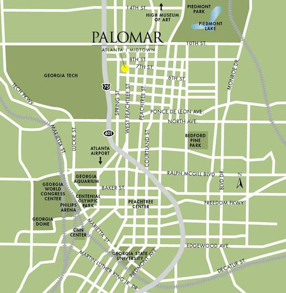 Karte von Atlanta 1