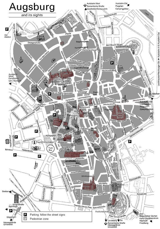 Large map of Augsburg 1