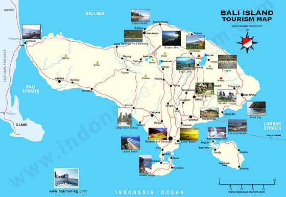 Large map of Bali 3