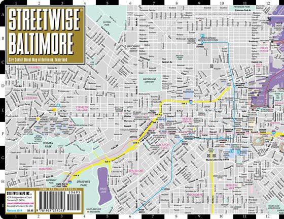 Detaillierte Karte von Baltimore 2