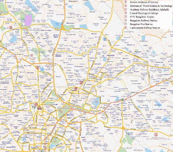Mapa de Bangalore  1