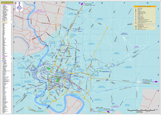 Large map of Bangkok 3