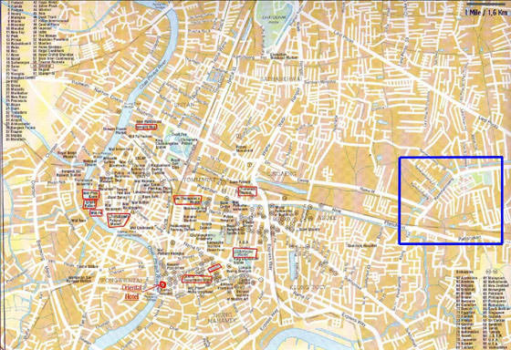 Large map of Bangkok 5