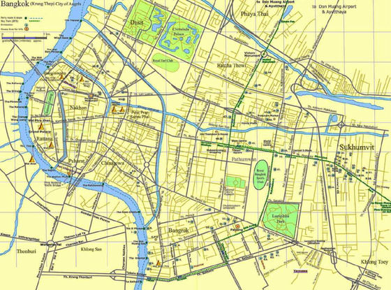 Detailed map of Bangkok 6