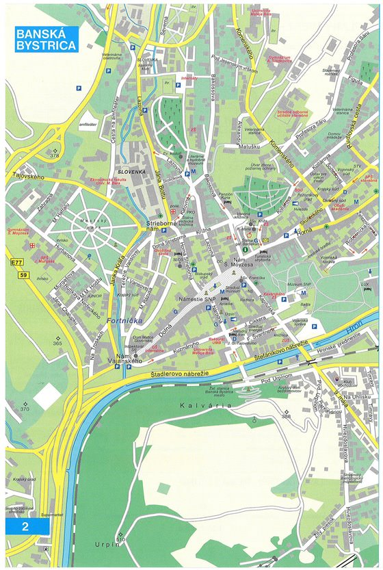 Large map of Banska Bystrica 1