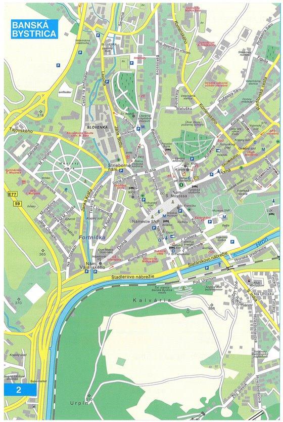 Детальная карта Банска-Быстрицы 1