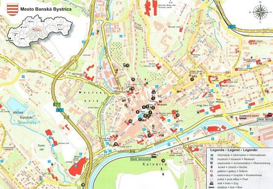 Подробная карта Банска-Быстрицы 2