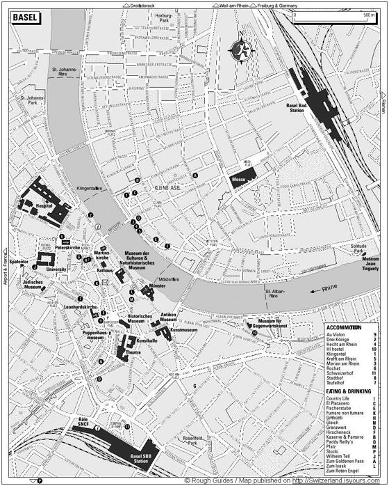 Детальная карта Базеля 1