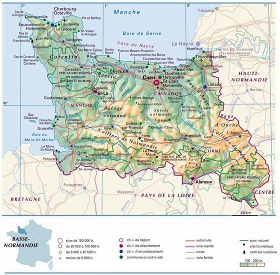 Karte von Basse-Normandie 1