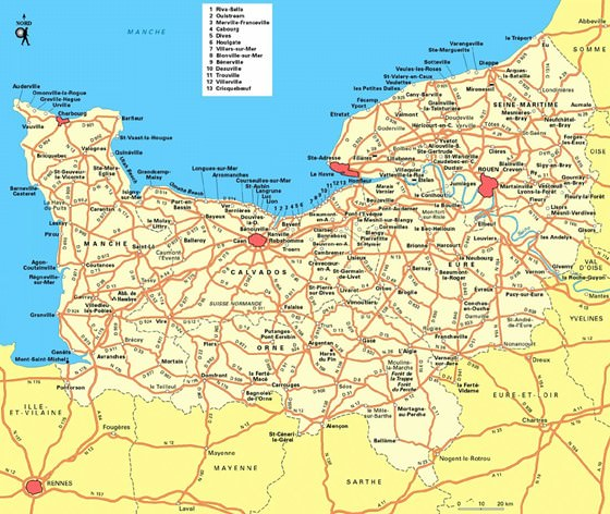 Karte von Basse-Normandie 3