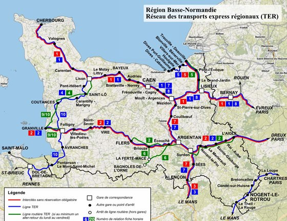 Karte von Basse-Normandie 4