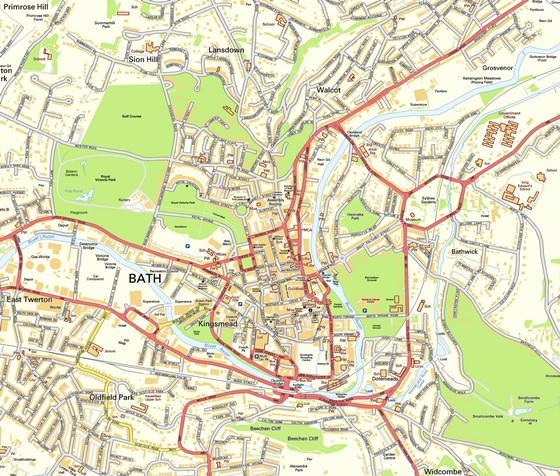 Gran mapa de Bath 1