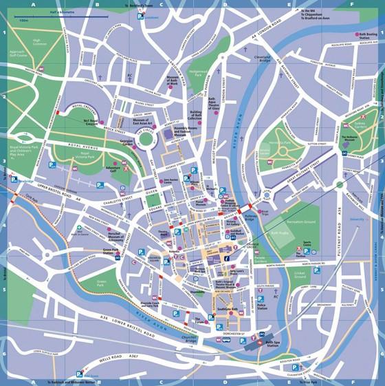Mapa detallado de Bath 2
