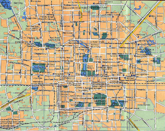 Detailed map of Beijing 2