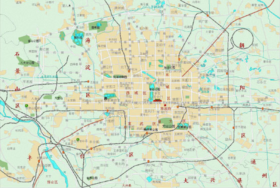 Large map of Beijing 3